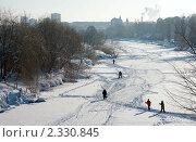 Зимой на льду. Стоковое фото, фотограф Roman Firsov / Фотобанк Лори
