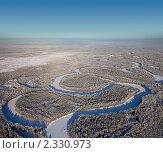 Река в Западной Сибири зимой. Стоковое фото, фотограф Владимир Мельников / Фотобанк Лори