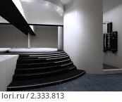 Интерьер ванной комнаты. Стоковая иллюстрация, иллюстратор Дмитрий Солодянкин / Фотобанк Лори