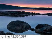 Купить «Белая ночь над заливом Белого моря», фото № 2334397, снято 4 июля 2010 г. (c) Михаил Иванов / Фотобанк Лори