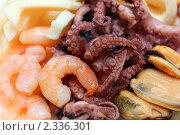 Купить «Коктейль из морепродуктов на тарелке», фото № 2336301, снято 6 февраля 2011 г. (c) Михаил Коханчиков / Фотобанк Лори