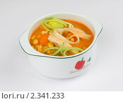 Суп с кукурузой и лапшой. Стоковое фото, фотограф Константин Буркин / Фотобанк Лори