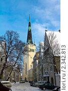 Таллин, Старый Город. Церковь Олевисте (2010 год). Стоковое фото, фотограф Алексей Измайлов / Фотобанк Лори