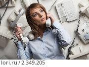 Купить «Аврал на работе», фото № 2349205, снято 9 февраля 2011 г. (c) Мельников Дмитрий / Фотобанк Лори