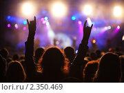 Восторженная толпа на концерте. Стоковое фото, фотограф Анатолий Типляшин / Фотобанк Лори