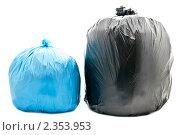 Купить «Мешки для мусора», фото № 2353953, снято 3 января 2011 г. (c) Сергей Дашкевич / Фотобанк Лори