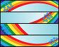 Набор баннеров с радугой и незабудками, иллюстрация № 2355449 (c) Татьяна Петрова / Фотобанк Лори