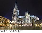 Купить «Ночной вид на древний Кельнский собор, Кельн, Германия», фото № 2355477, снято 20 февраля 2011 г. (c) Николай Винокуров / Фотобанк Лори