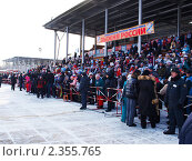 Купить «Зрители на трибуне», эксклюзивное фото № 2355765, снято 13 февраля 2011 г. (c) Евгений Ткачёв / Фотобанк Лори