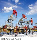 Купить «Нефтяные качалки», фото № 2370361, снято 20 февраля 2008 г. (c) Георгий Shpade / Фотобанк Лори