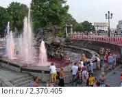 Купить «Москва. Вид на фонтан в Александровском саду», эксклюзивное фото № 2370405, снято 2 августа 2010 г. (c) lana1501 / Фотобанк Лори