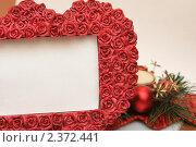 Новогодняя рамка. Стоковое фото, фотограф Kononova Elena / Фотобанк Лори