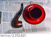 Купить «Курительная трубка и чашка кофе», фото № 2372621, снято 2 февраля 2011 г. (c) Алексей Лучин / Фотобанк Лори