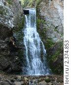 Водопад в горах. Стоковое фото, фотограф Оксана Мощенко / Фотобанк Лори