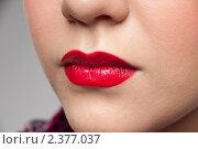 Женские губы. Стоковое фото, фотограф Александр Маркин / Фотобанк Лори