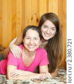 Купить «Счастливая мать с дочерью-подростком», фото № 2380721, снято 23 февраля 2011 г. (c) Яков Филимонов / Фотобанк Лори