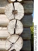 Купить «Фрагмент старого бревенчатого  дома», фото № 2381645, снято 23 августа 2008 г. (c) Татьяна Белова / Фотобанк Лори