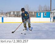Купить «Детский хоккей на льду», фото № 2383257, снято 27 февраля 2011 г. (c) Игорь Момот / Фотобанк Лори
