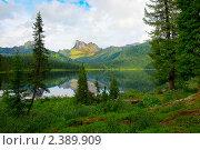 Купить «Горное озеро», фото № 2389909, снято 26 июля 2009 г. (c) Александр Маркин / Фотобанк Лори