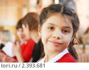 Купить «Портрет семилетней девочки», фото № 2393681, снято 2 марта 2011 г. (c) Papoyan Irina / Фотобанк Лори