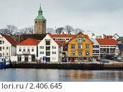 Купить «Набережная Ставангера, Норвегия», фото № 2406645, снято 6 марта 2011 г. (c) Михаил Марковский / Фотобанк Лори