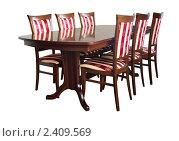 Купить «Столовая мебель», фото № 2409569, снято 13 февраля 2011 г. (c) Антон Стариков / Фотобанк Лори