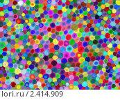 Купить «Абстрактный фон из разноцветных кругов разных оттенков», иллюстрация № 2414909 (c) Татьяна Васина / Фотобанк Лори