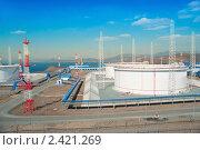 Купить «ВСТО Нефтеналивной порт Козьмино», фото № 2421269, снято 17 марта 2011 г. (c) Андрей Пашков / Фотобанк Лори