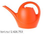 Купить «Оранжевая лейка на белом фоне», фото № 2426753, снято 16 сентября 2010 г. (c) Pshenichka / Фотобанк Лори
