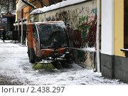 Старый Арбат зимой (2011 год). Редакционное фото, фотограф Петр Бюнау / Фотобанк Лори