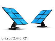 Купить «Солнечная батарея на белом фоне», иллюстрация № 2445721 (c) Ильин Сергей / Фотобанк Лори