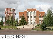 Купить «Здание в Уфе», фото № 2446001, снято 29 июня 2008 г. (c) Михаил Валеев / Фотобанк Лори