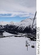 Подъемник в горах. Стоковое фото, фотограф Мария Кузнецова / Фотобанк Лори