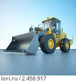 Купить «Фронтальный погрузчик», иллюстрация № 2458917 (c) Юрий Бельмесов / Фотобанк Лори