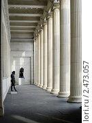 Купить «Москва. Колонны Пушкинского музея», эксклюзивное фото № 2473057, снято 23 февраля 2011 г. (c) Зобков Георгий / Фотобанк Лори