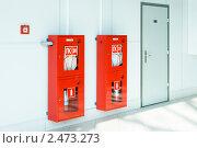 Купить «Пожарные шкафы», эксклюзивное фото № 2473273, снято 4 августа 2010 г. (c) Александр Щепин / Фотобанк Лори