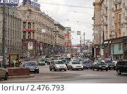 Купить «Москва. Тверская улица, вид от Манежной площади», фото № 2476793, снято 16 апреля 2011 г. (c) Андрей Ерофеев / Фотобанк Лори