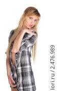 Купить «Стройная молодая блондинка», фото № 2476989, снято 7 марта 2011 г. (c) Черников Роман / Фотобанк Лори