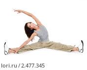 Девушка занимается фитнесом. Стоковое фото, фотограф ingret (Ира Бачинская) / Фотобанк Лори