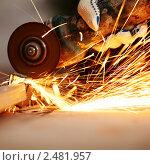 Купить «Резка металла», фото № 2481957, снято 25 июня 2019 г. (c) Иван Михайлов / Фотобанк Лори