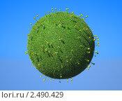 Купить «Цветы на зелёной планете», иллюстрация № 2490429 (c) Арсений Герасименко / Фотобанк Лори