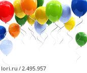 Купить «Разноцветные воздушные шарики», иллюстрация № 2495957 (c) Юдин Владимир / Фотобанк Лори