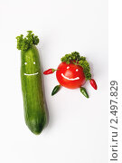 Улыбающиеся овощи. Стоковое фото, фотограф Виктория Кононова / Фотобанк Лори