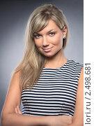 Привлекательная деловая женщина. Стоковое фото, фотограф Ольга Дудина / Фотобанк Лори