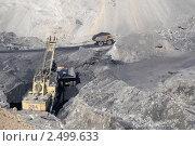 Купить «Добыча угля открытым способом», фото № 2499633, снято 2 апреля 2008 г. (c) Александр Подшивалов / Фотобанк Лори