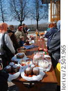 Купить «Освящение куличей. Рязанский кремль», эксклюзивное фото № 2501965, снято 23 апреля 2010 г. (c) lana1501 / Фотобанк Лори