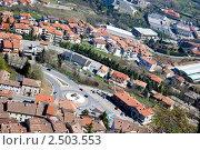 Купить «Обзорный вид на Сан Марино, Италия», фото № 2503553, снято 2 апреля 2011 г. (c) Блинова Ольга / Фотобанк Лори