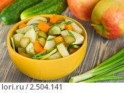 Купить «Салат с яблоками и овощами», эксклюзивное фото № 2504141, снято 26 апреля 2011 г. (c) Давид Мзареулян / Фотобанк Лори