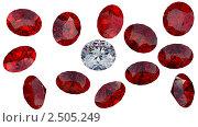 Купить «Крупный бриллиант среди красных рубинов», иллюстрация № 2505249 (c) Арсений Герасименко / Фотобанк Лори