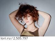 Портрет стильной рыжеволосой девушки. Стоковое фото, фотограф Иван Демьянов / Фотобанк Лори